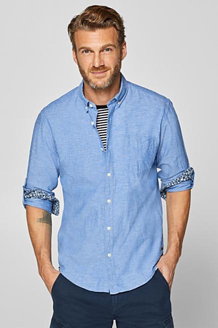 Med linne  skjorta med button-downkrage 66e1189af842a