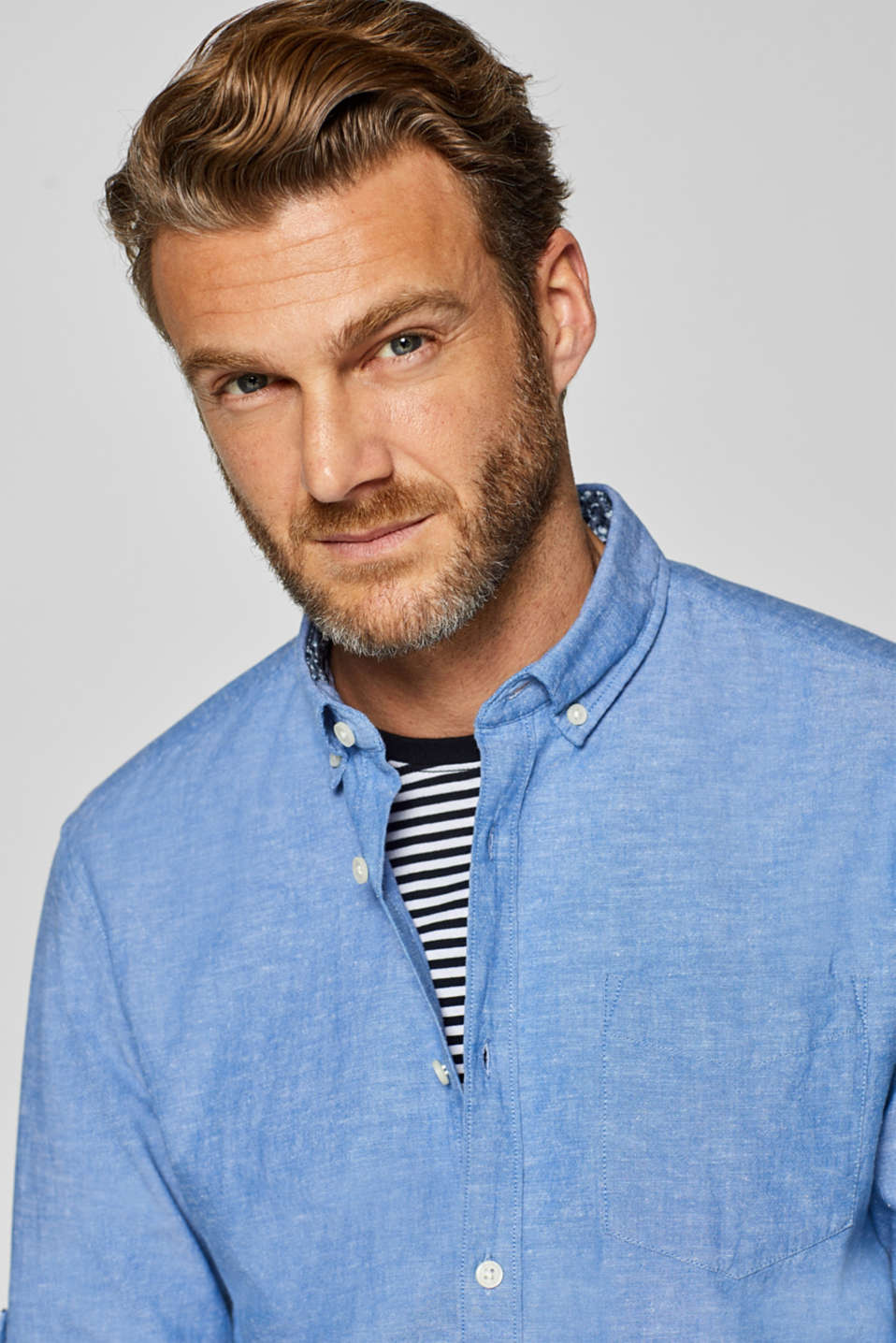 Shirts woven Regular fit, LIGHT BLUE, detail image number 6
