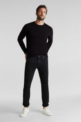 With cashmere: fine knit jumper, BLACK, detail