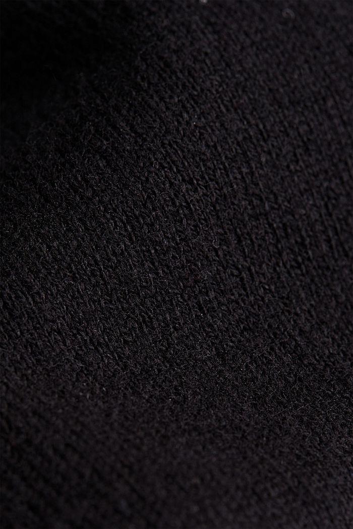Sisältää kašmiria: neulepusero hienoneulosta, BLACK, detail image number 4