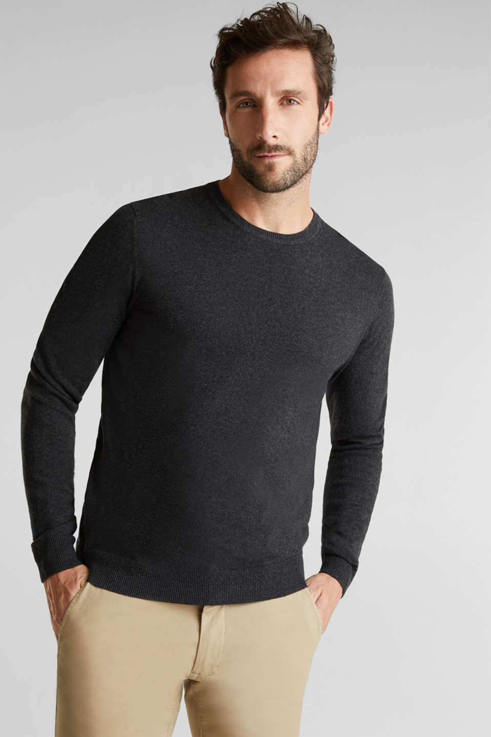 Esprit - With cashmere: fine knit jumper