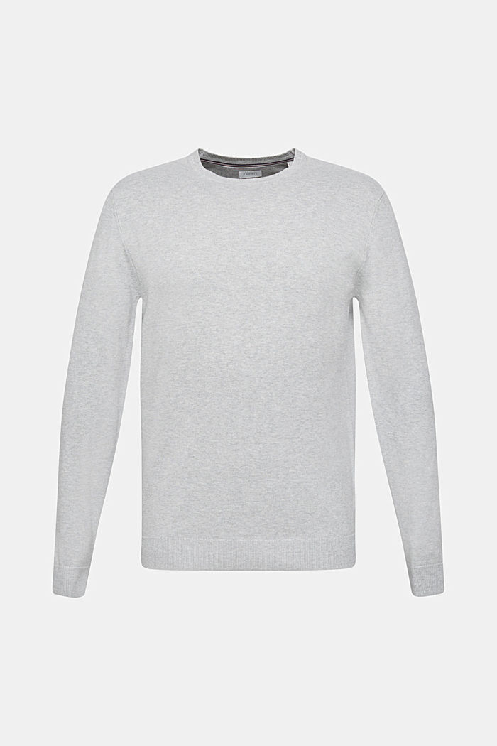 With cashmere: fine knit jumper, LIGHT GREY, overview