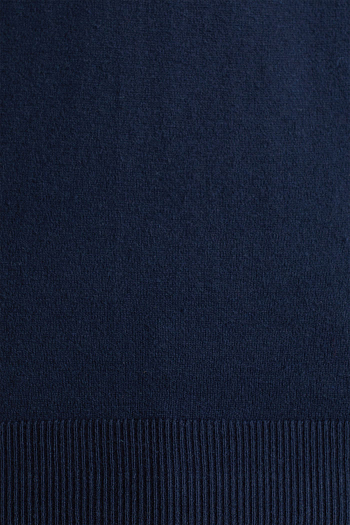 With cashmere: fine knit jumper, NAVY, detail image number 1