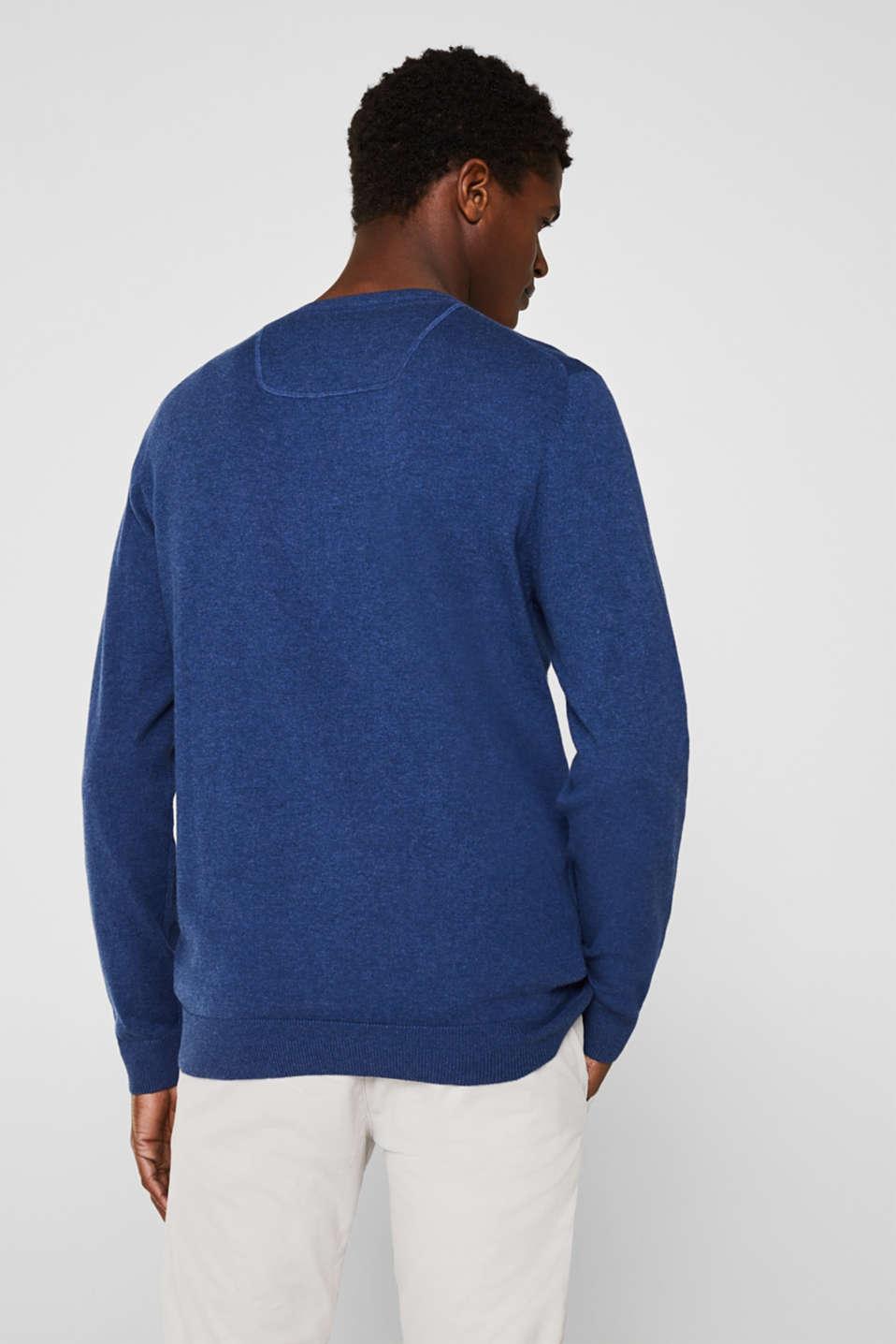 Sweaters, DARK BLUE, detail image number 3