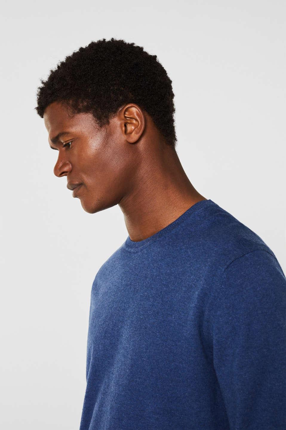Sweaters, DARK BLUE, detail image number 5