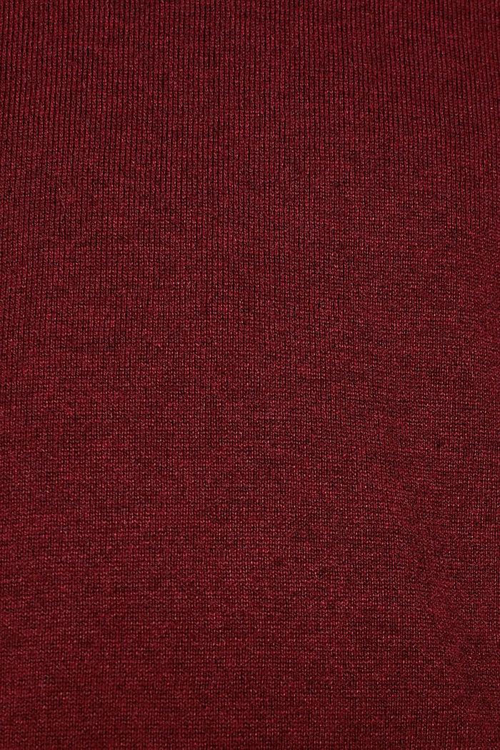With cashmere: fine knit jumper, DARK RED, detail image number 4