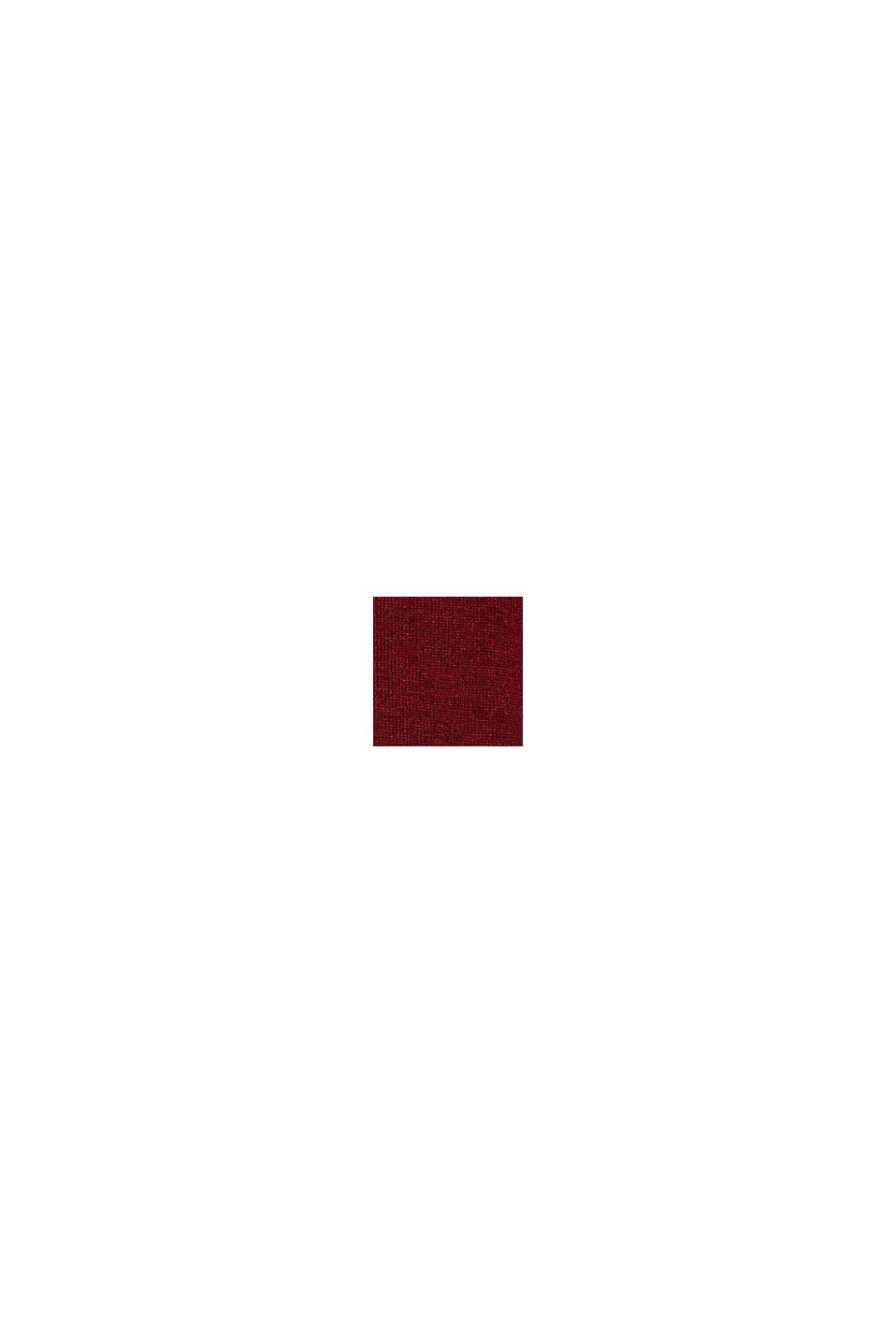 Mit Kaschmir: Pullover aus Feinstrick, DARK RED, swatch