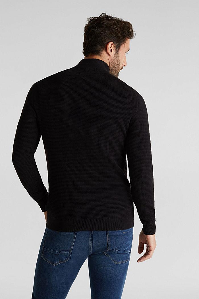 Mit Kaschmir: Sweater aus Strukturstrick, BLACK, detail image number 3