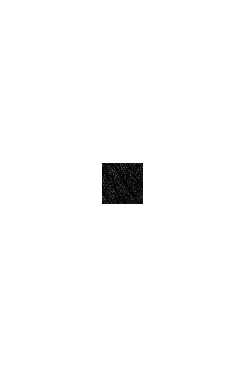 Mit Kaschmir: Sweater aus Strukturstrick, BLACK, swatch
