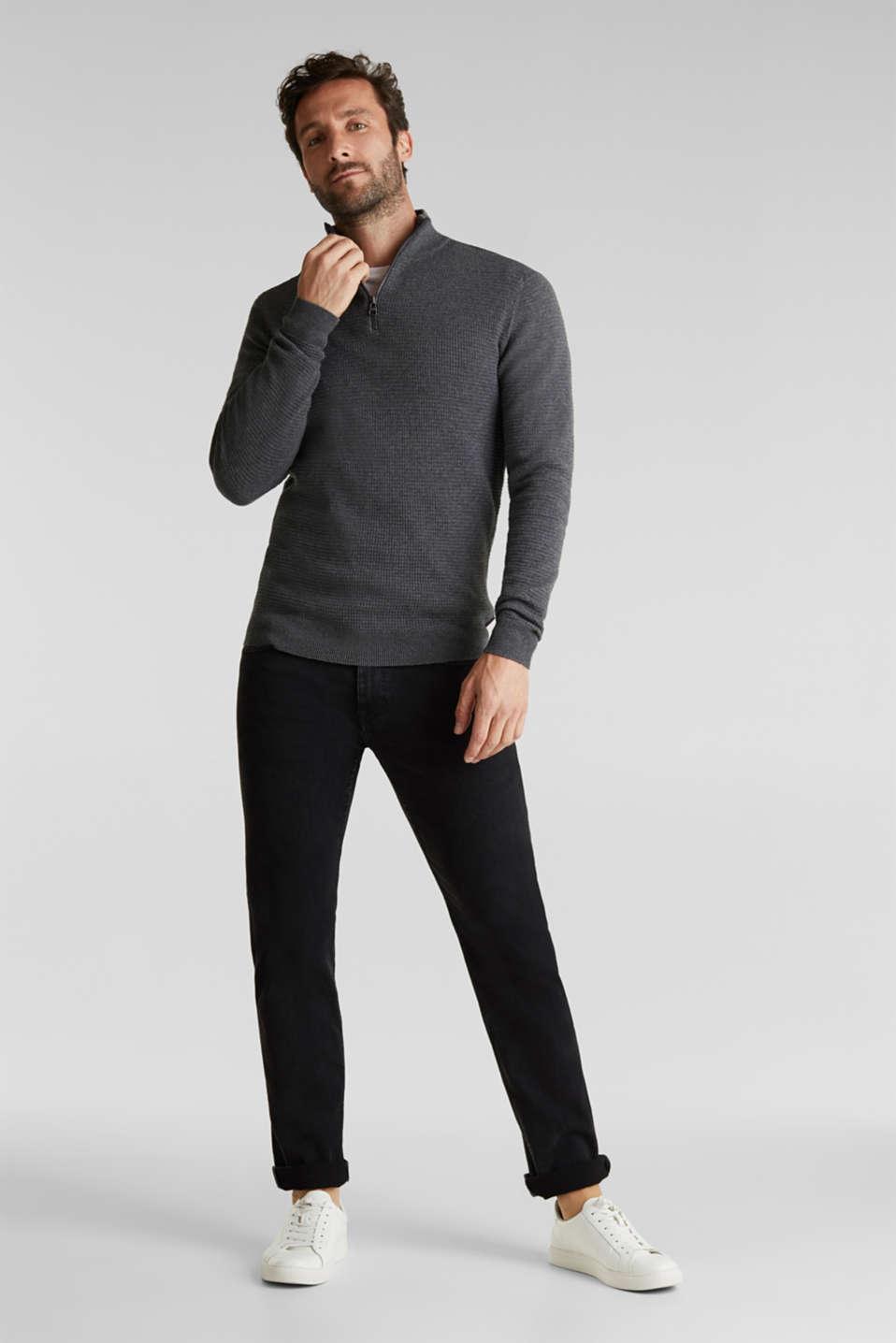 Sweaters, DARK GREY, detail image number 1