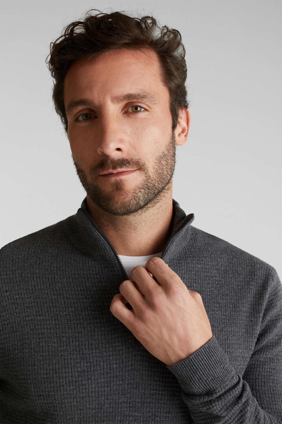 Sweaters, DARK GREY, detail image number 5