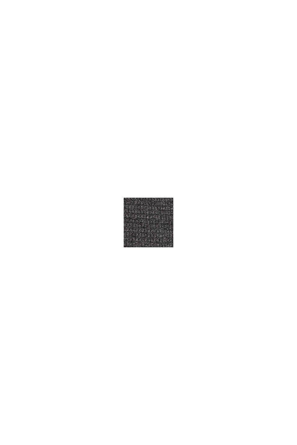 Med kashmir: tröja i strukturstickning, DARK GREY, swatch