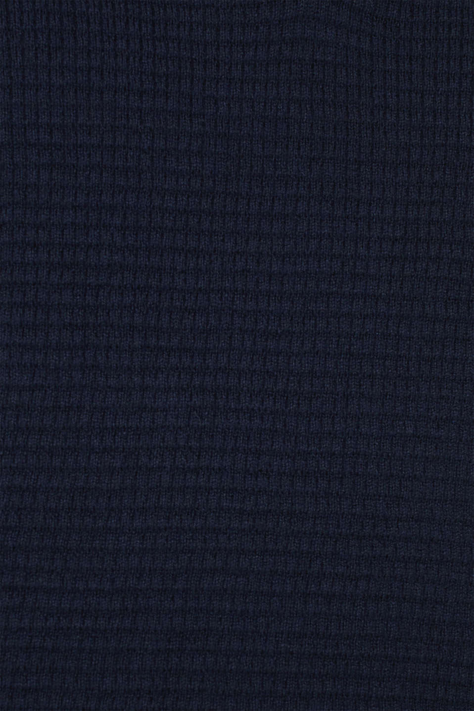 With cashmere: Textured knit jumper, NAVY, detail image number 4