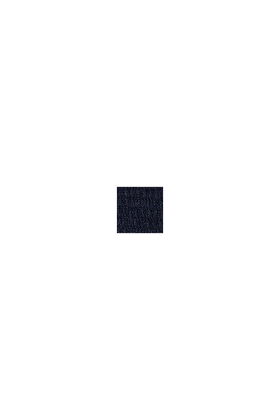 Med kashmir: tröja i strukturstickning, NAVY, swatch