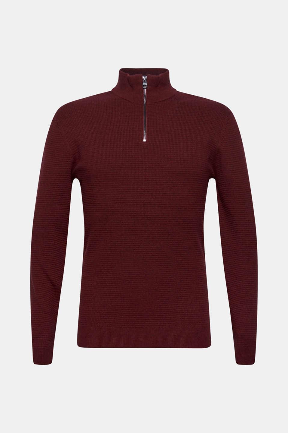 Sweaters, DARK RED, detail image number 6