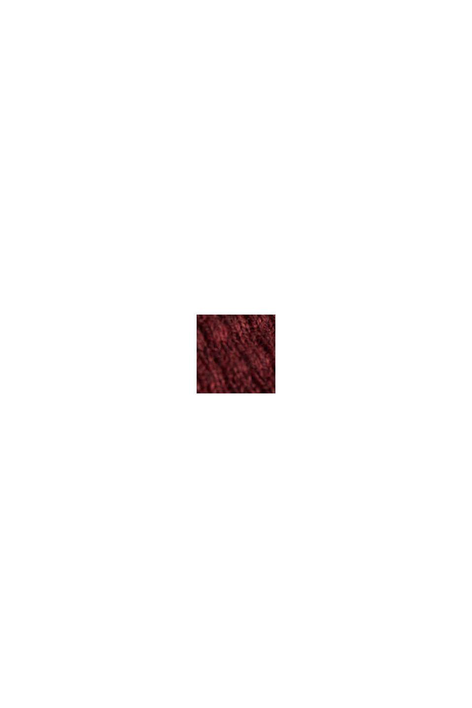 Mit Kaschmir: Sweater aus Strukturstrick, DARK RED, swatch