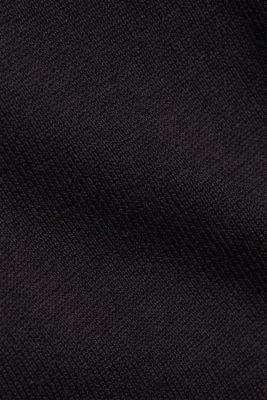 Jumper with a round neckline, 100% cotton, BLACK, detail