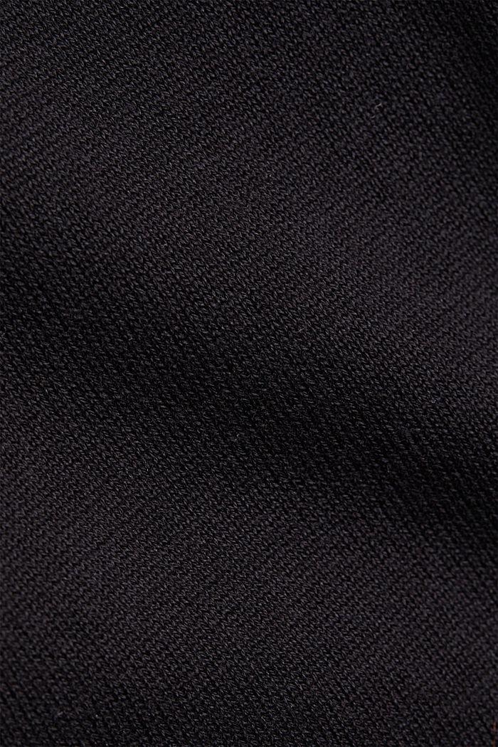 Pullover mit Rundhals-Ausschnitt, 100% Baumwolle, BLACK, detail image number 4