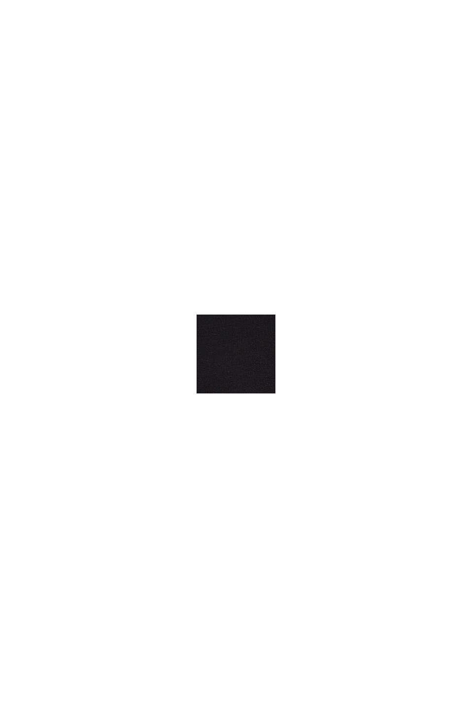Trui met ronde hals, 100% katoen, BLACK, swatch