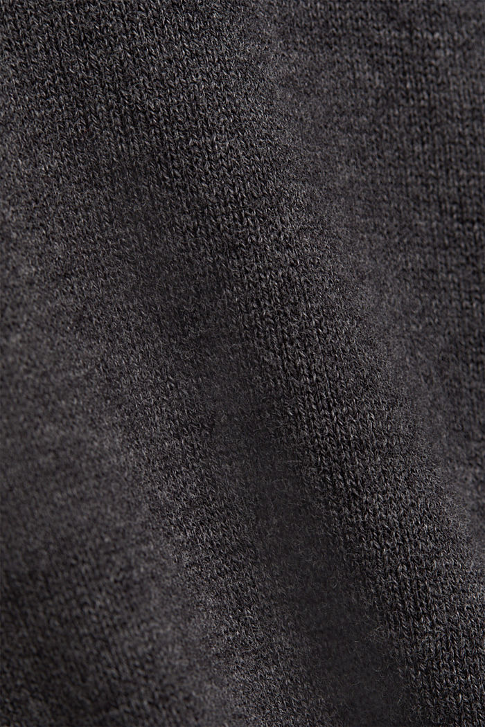Jumper with a round neckline, 100% cotton, DARK GREY, detail image number 4