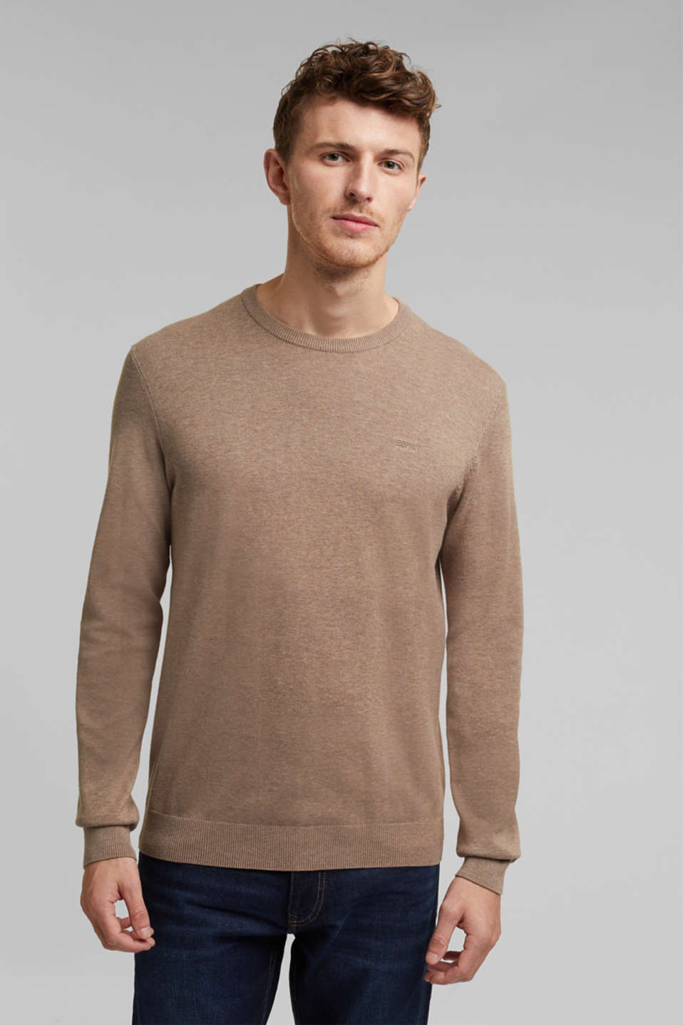 Sweaters, BEIGE, detail image number 0