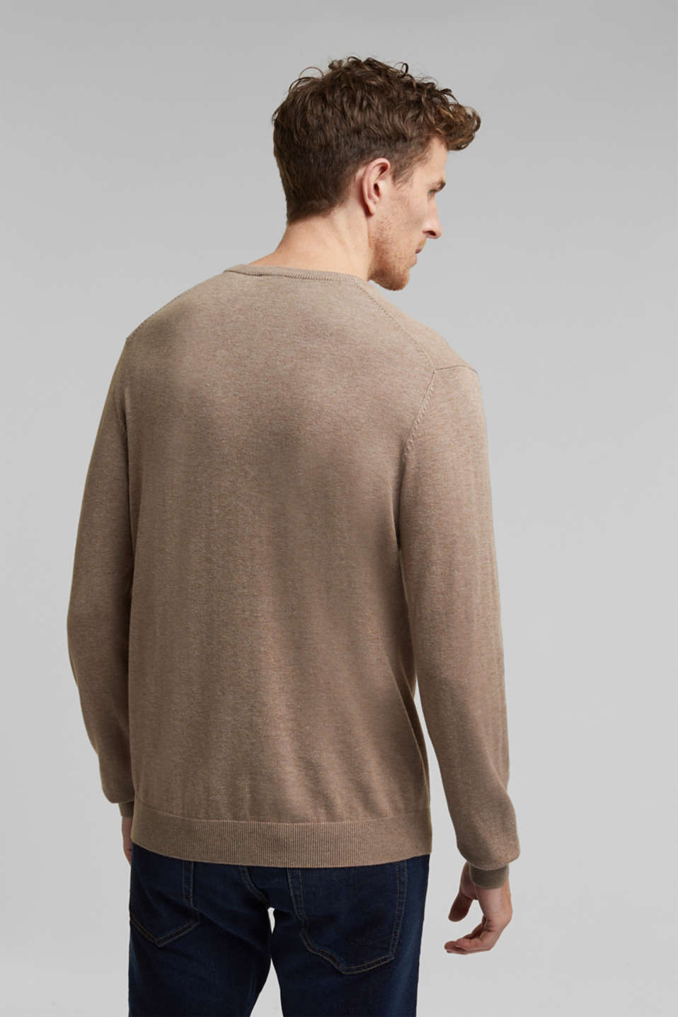 Sweaters, BEIGE, detail image number 3