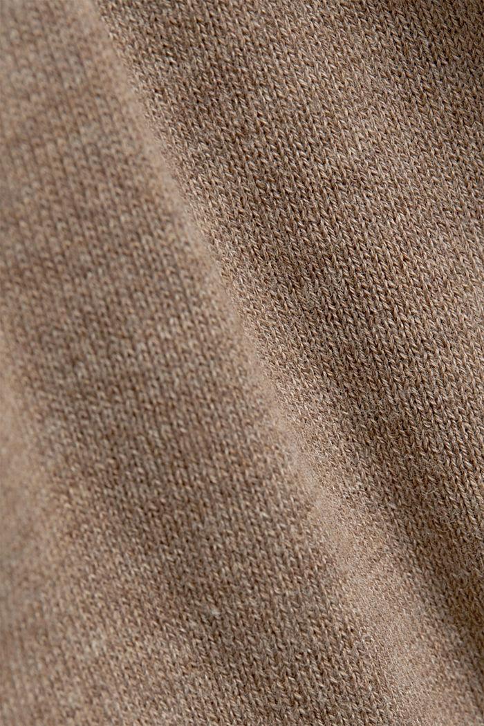 Jumper with a round neckline, 100% cotton, BEIGE, detail image number 4