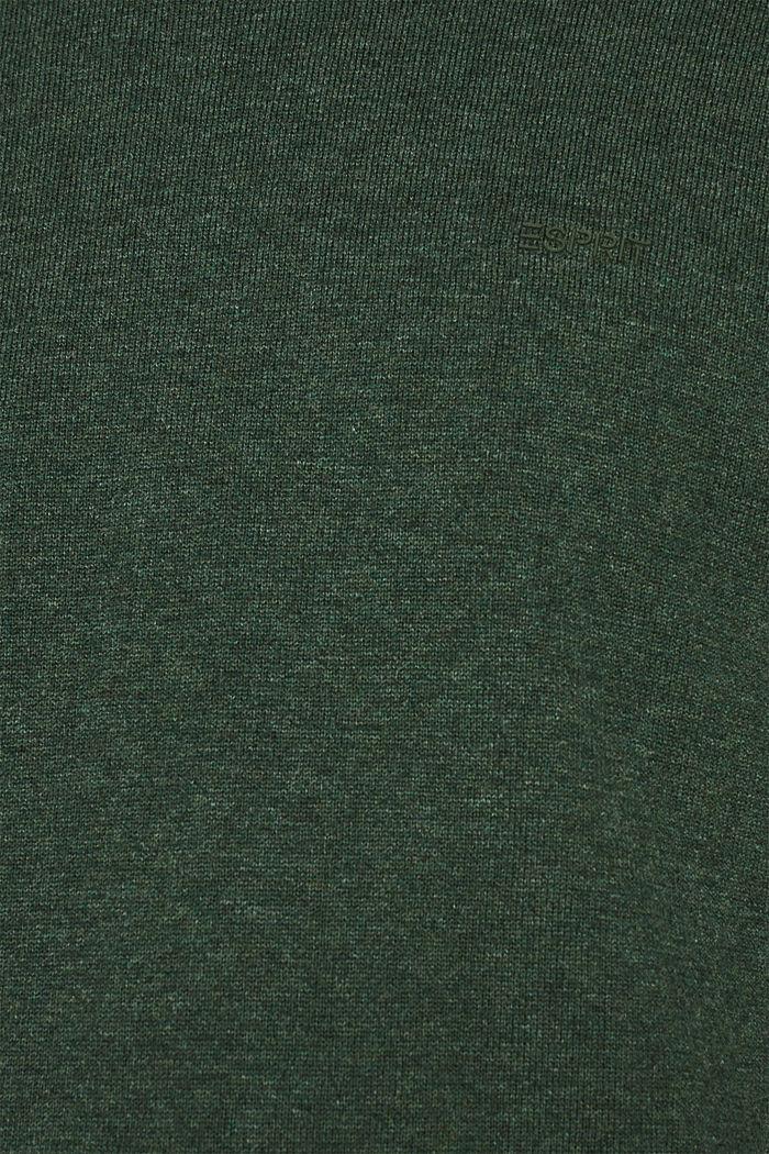 Pullover mit Rundhals-Ausschnitt, 100% Baumwolle, DARK GREEN, detail image number 4