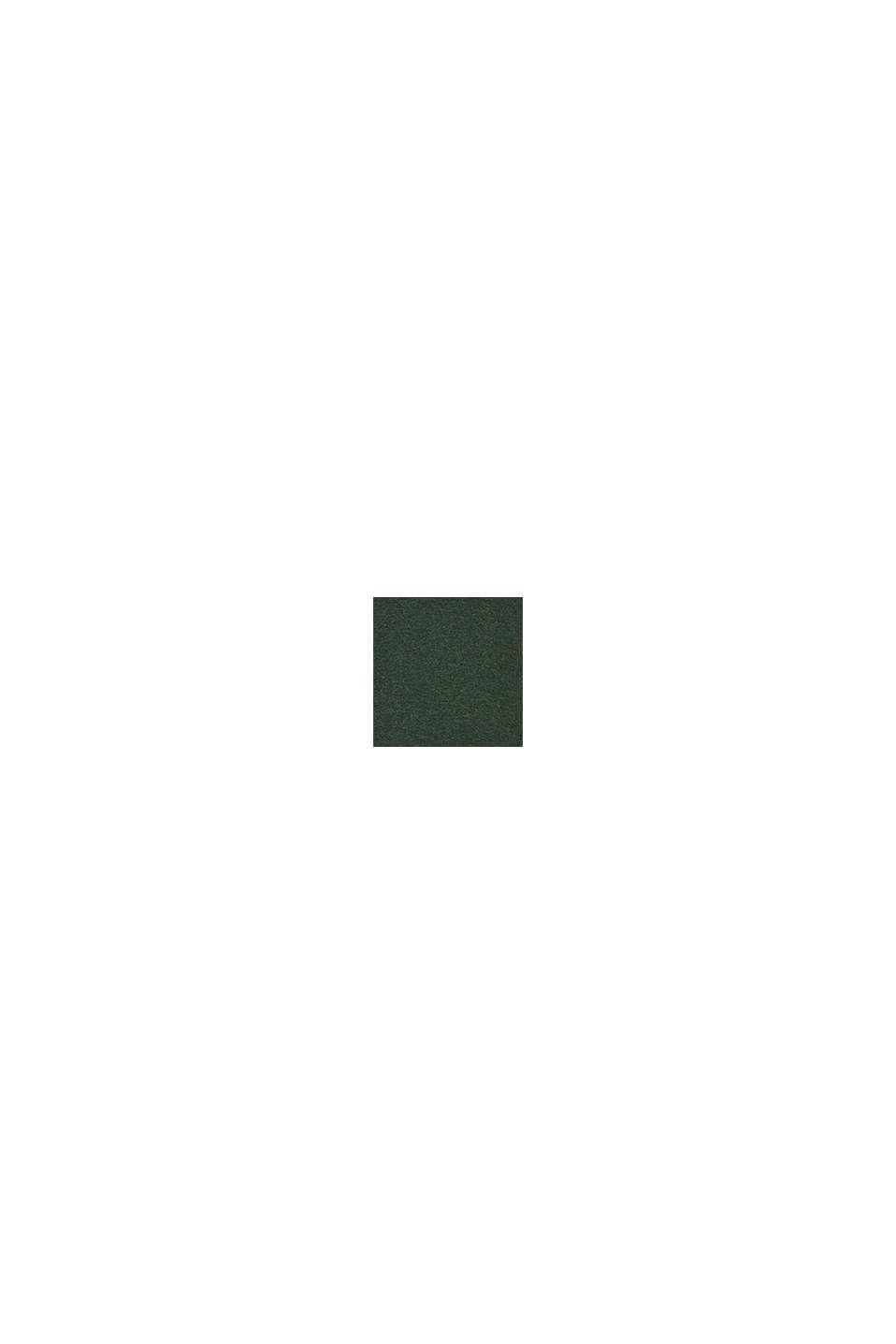 Trui met ronde hals, 100% katoen, DARK GREEN, swatch