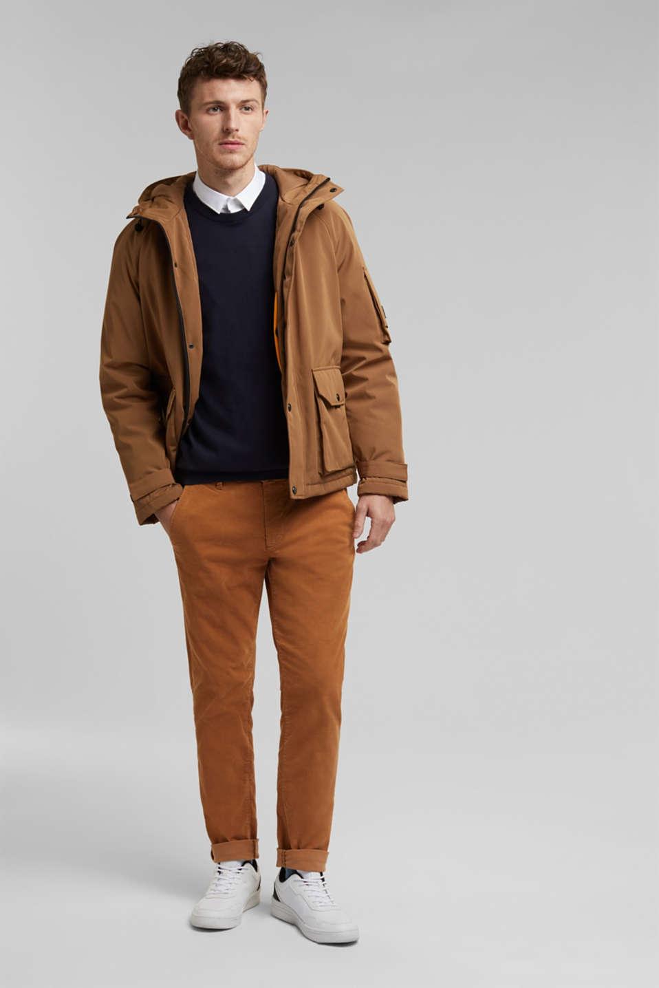 Jumper with a round neckline, 100% cotton, NAVY, detail image number 1