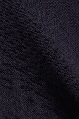 Jumper with a round neckline, 100% cotton, NAVY, detail