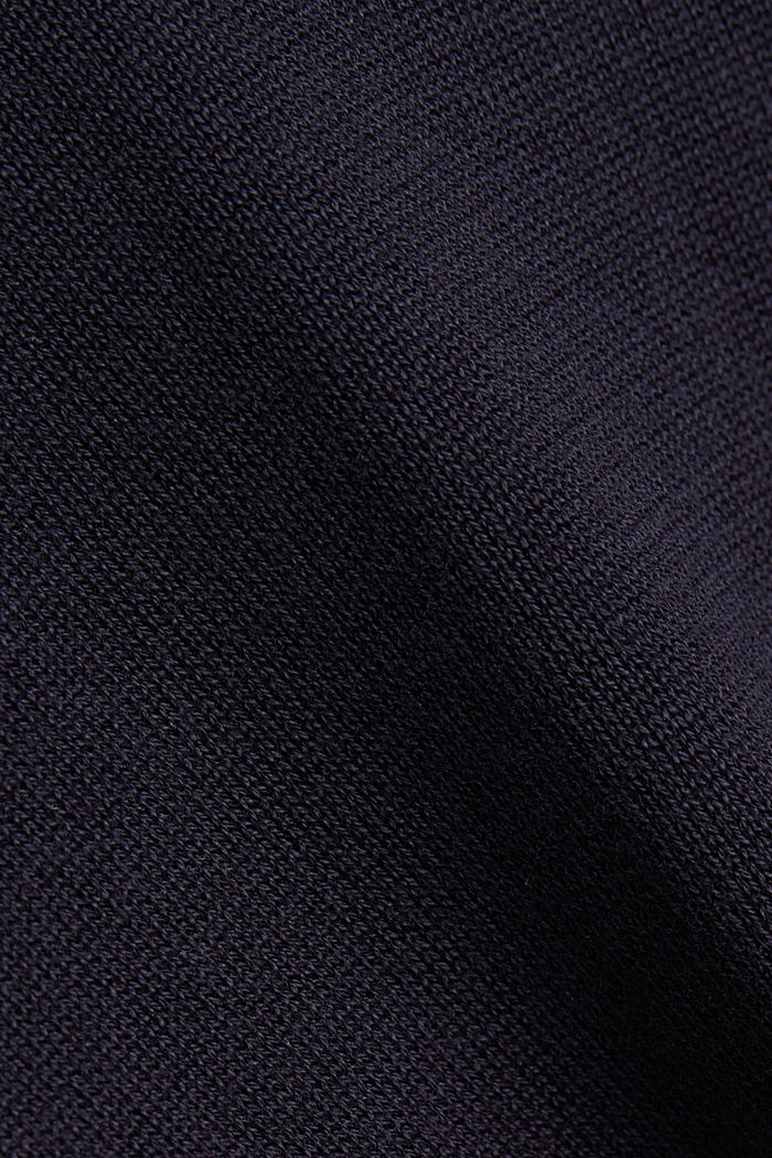 Jumper with a round neckline, 100% cotton, NAVY, detail image number 4