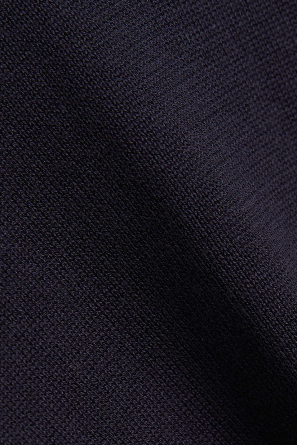 Jumper with a round neckline, 100% cotton, NAVY, detail image number 4