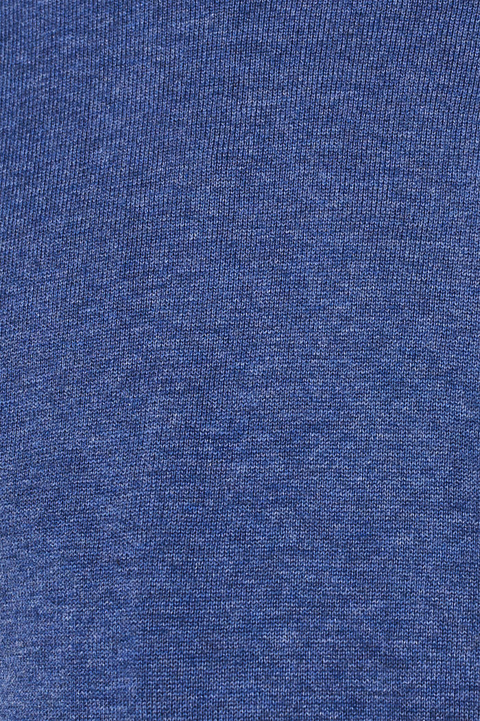 Jumper with a round neckline, 100% cotton, DARK BLUE, detail image number 3