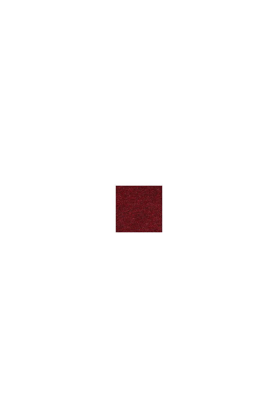 Jersey con cuello redondo, 100% algodón, DARK RED, swatch