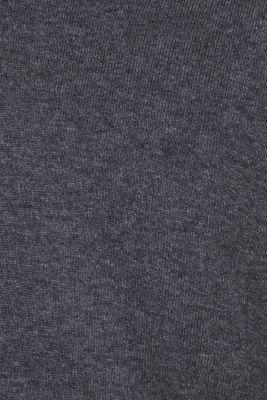 V-neck jumper, 100% cotton, DARK GREY, detail