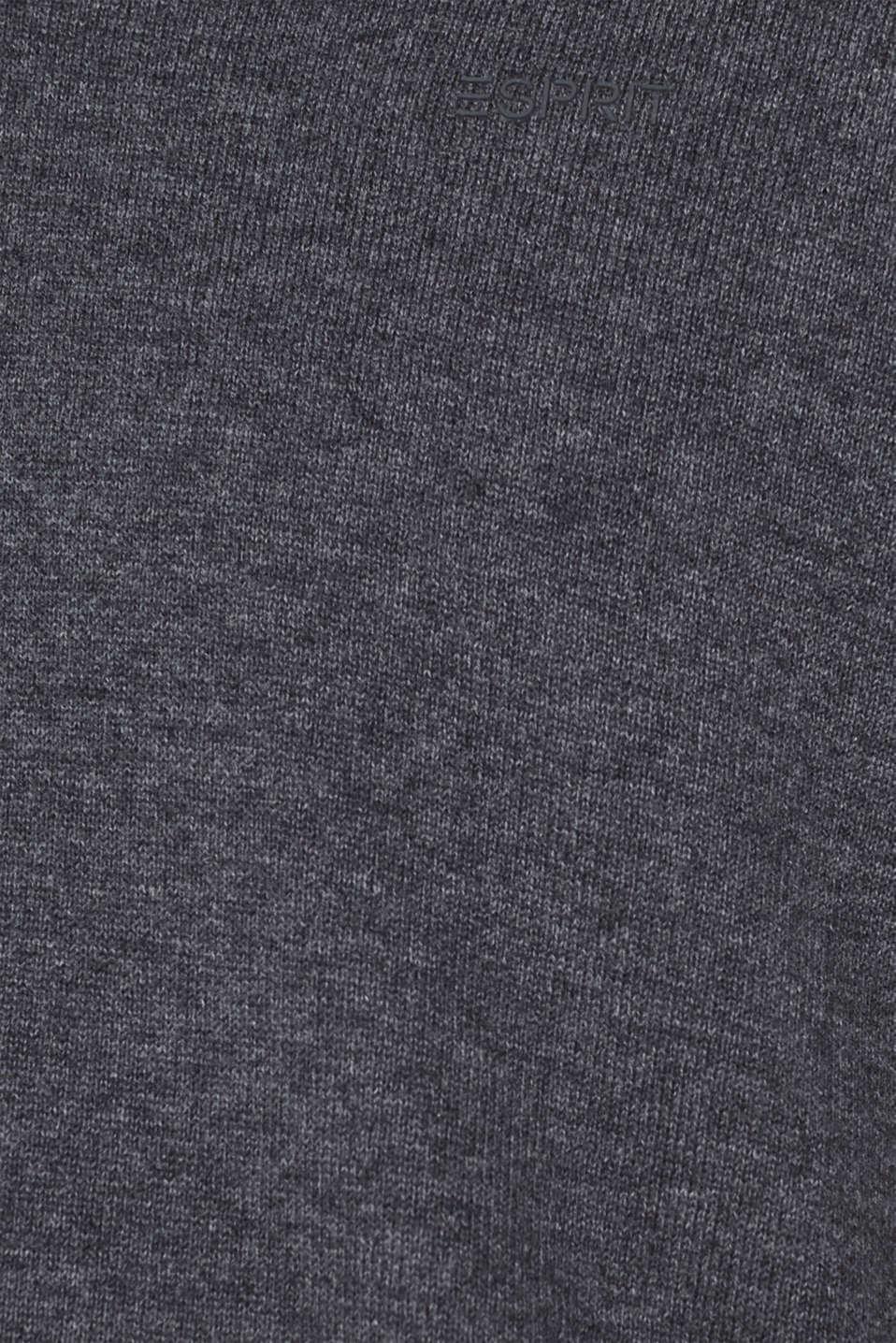 V-neck jumper, 100% cotton, DARK GREY, detail image number 4