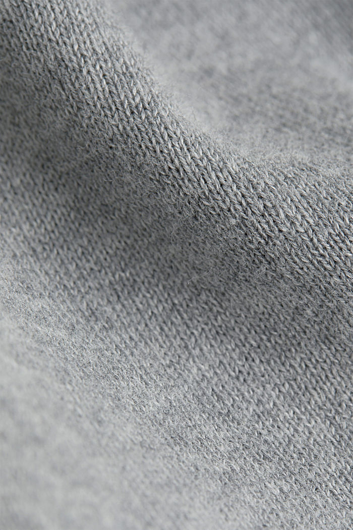 V-Neck-Pullover, 100% Baumwolle, GREY, detail image number 4
