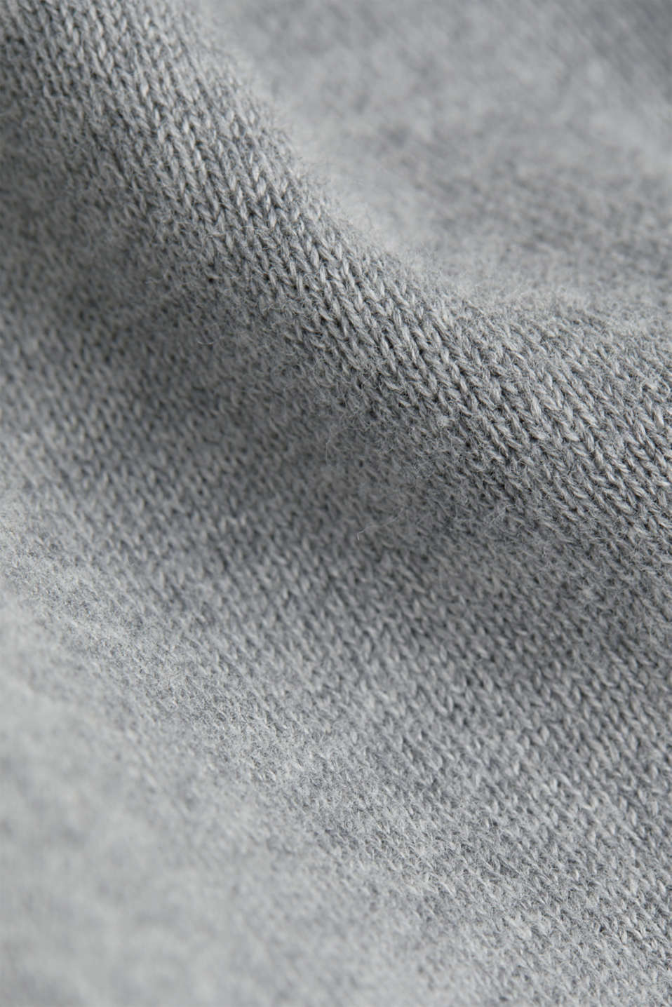 V-neck jumper, 100% cotton, GREY, detail image number 3