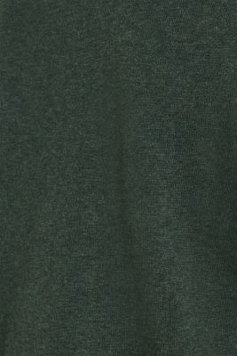 V-neck jumper, 100% cotton, DARK GREEN, detail