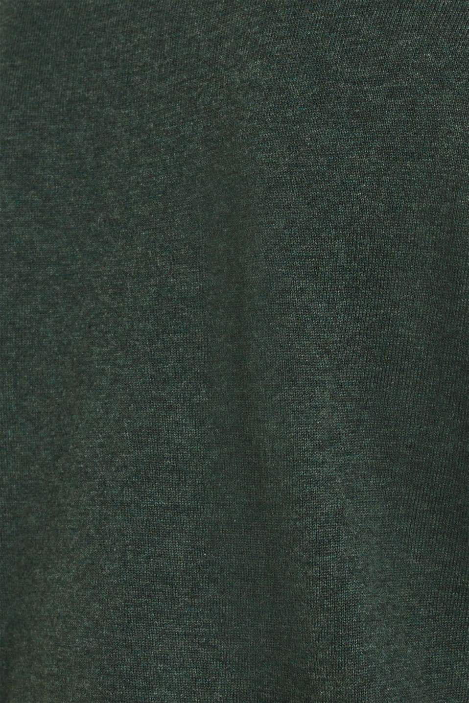 V-neck jumper, 100% cotton, DARK GREEN, detail image number 3