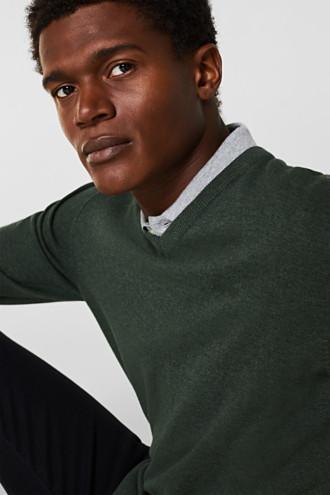 V-neck jumper, 100% cotton