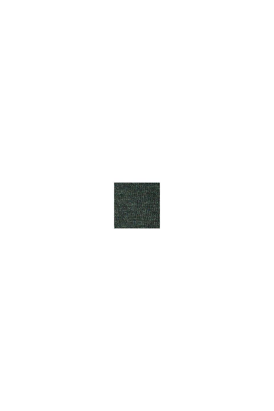 V-Neck-Pullover, 100% Baumwolle, DARK GREEN, swatch