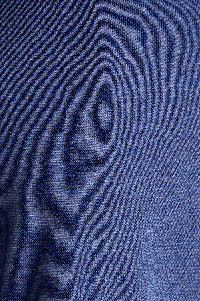 V-Neck-Pullover, 100% Baumwolle, DARK BLUE, detail image number 3