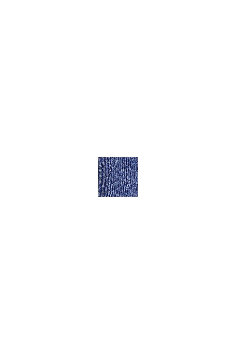 Pull-over à encolure en V, 100% coton, DARK BLUE, swatch