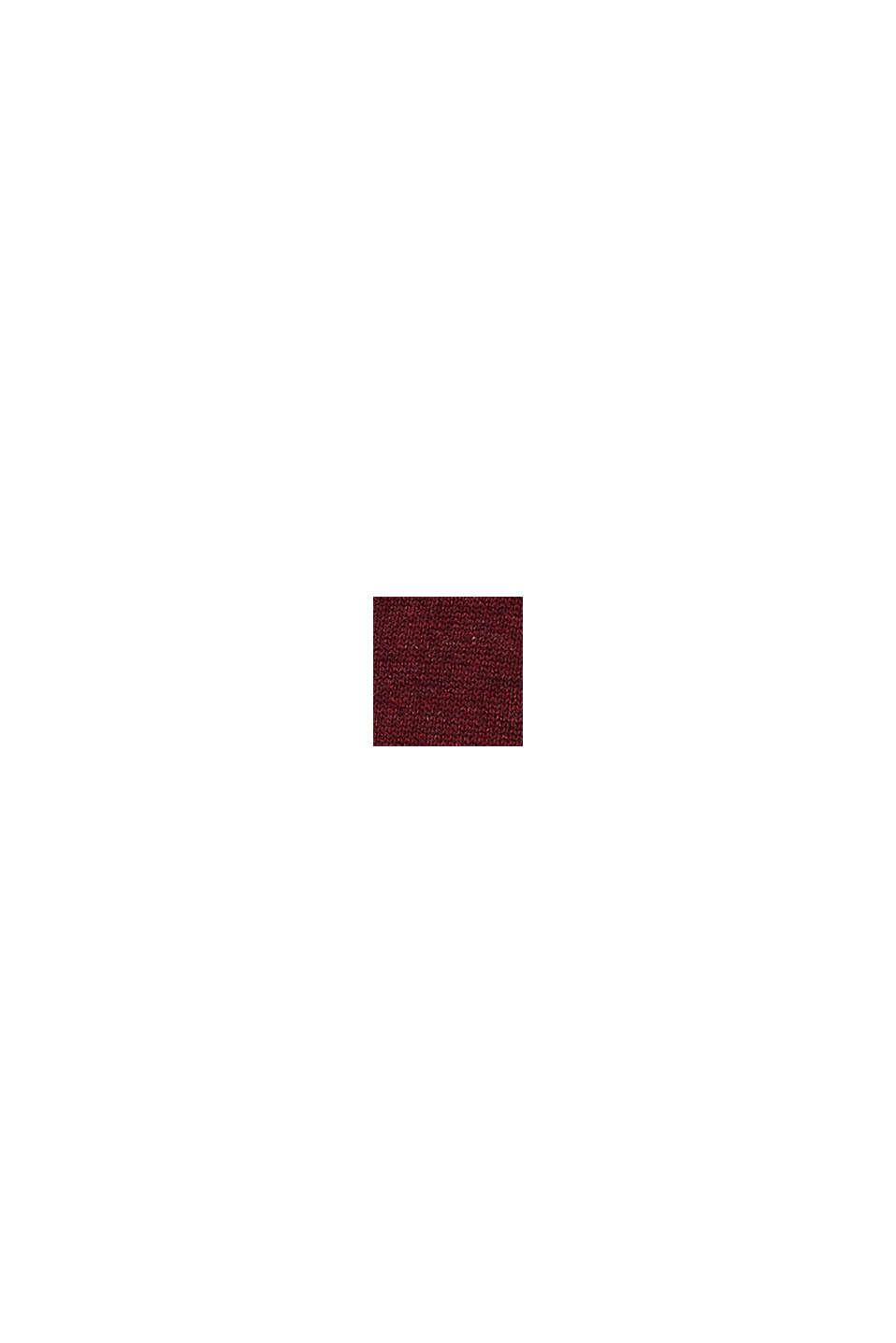 Jersey de escote en pico, 100% algodón, DARK RED, swatch