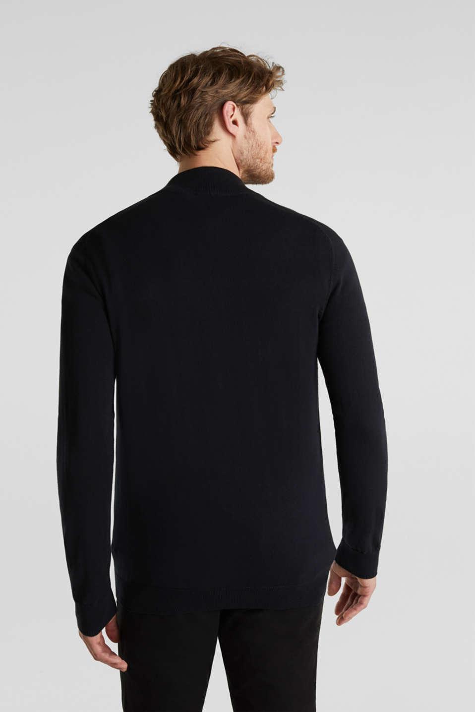 Cardigan in 100% cotton, BLACK, detail image number 3
