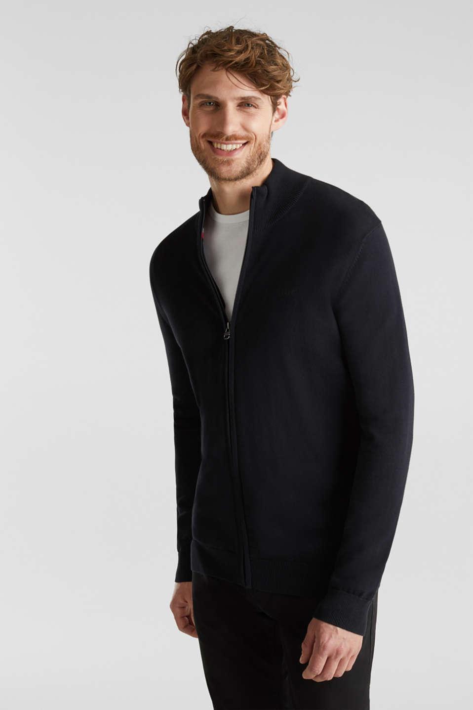 Cardigan in 100% cotton, BLACK, detail image number 6