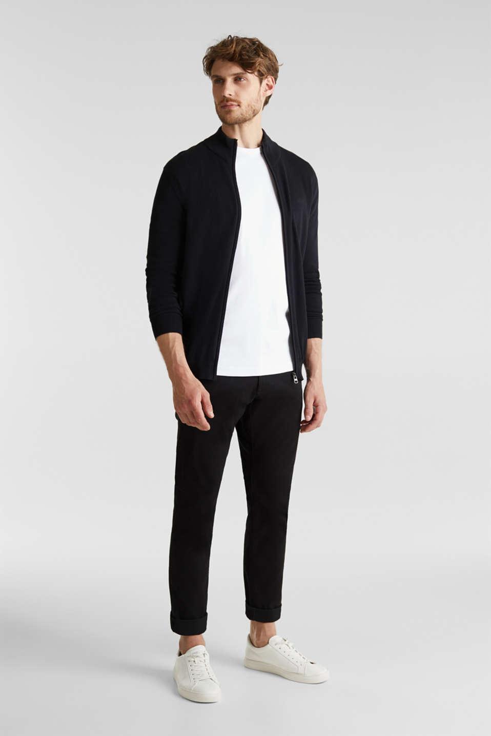 Cardigan in 100% cotton, BLACK, detail image number 1