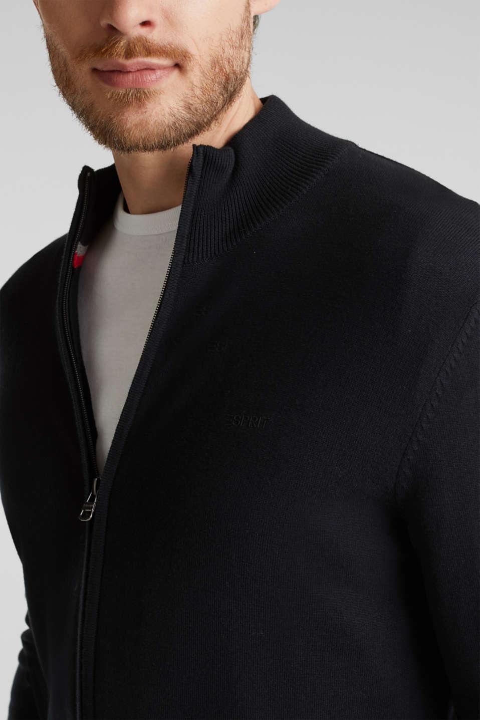 Cardigan in 100% cotton, BLACK, detail image number 2
